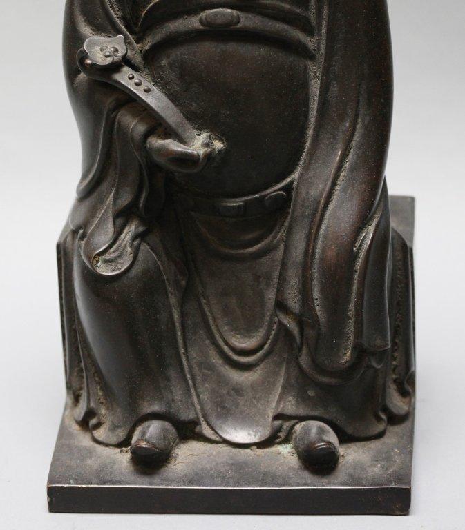 Chinese bronze seated scholar - 6