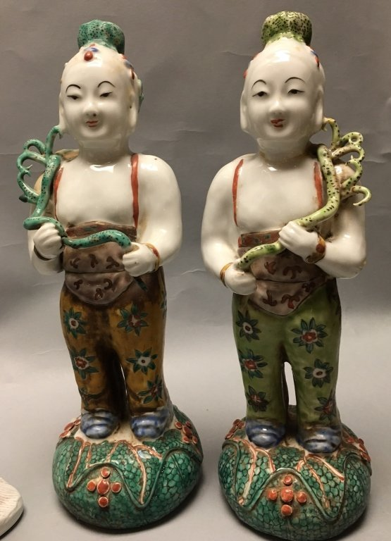 group of 5 Chinese porcelain items - 5