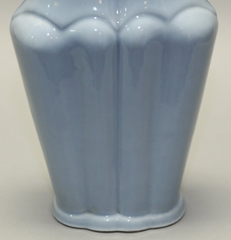 Chinese two handled lobed vase, late Qing dynasty - 3