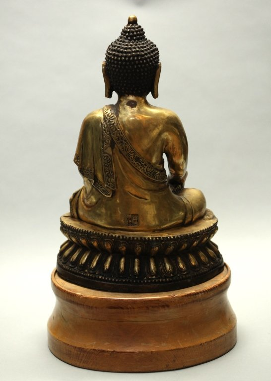 large Chinese bronze buddha - 4