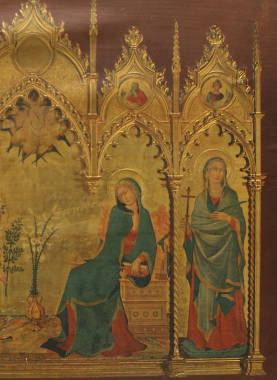hand painted Russian icon on board, 19th c. - 3