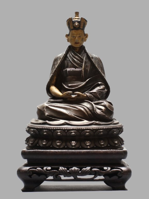 silver Tibetan figure of lama/monk