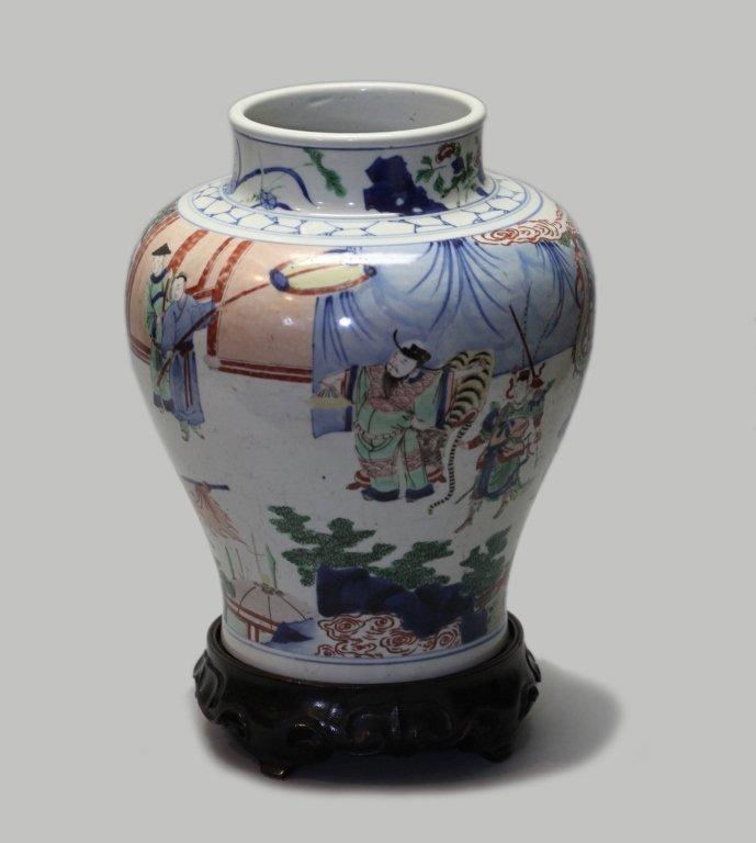Chinese porcelain wucai jar - 2