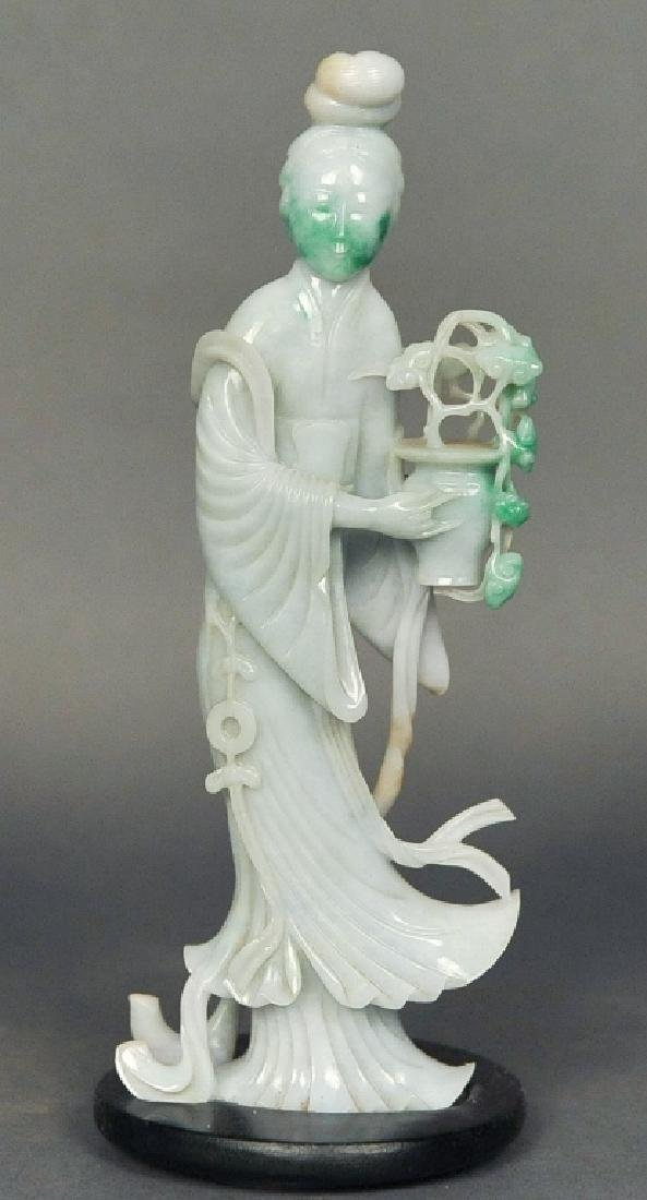 Chinese jadeite figure of a female immortal