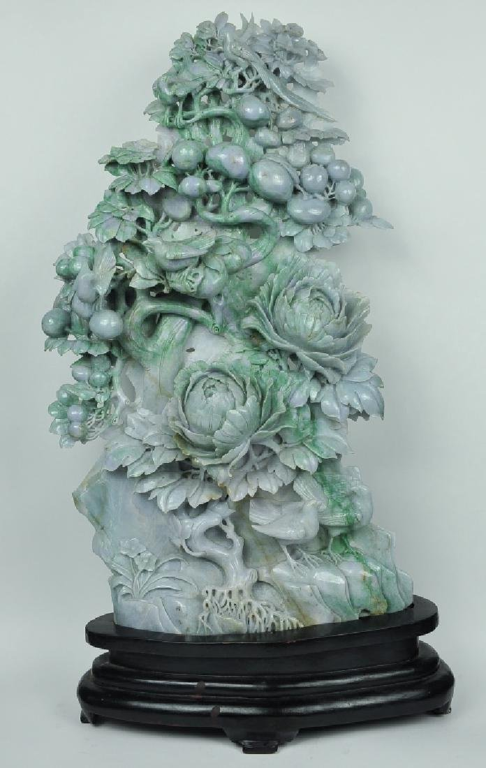 large Chinese jadeite carving