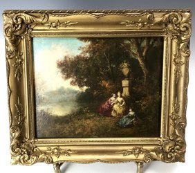 19TH C. OIL PAINTING ATTRIBUTED TO NARCISSE VIRGIL DIAZ