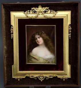 A 19TH CENTURY BERLIN KPM PORCELAIN PLAQUE