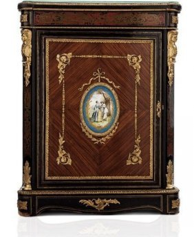 LOUIS XVI STYLE ORMOLU AND SEVRES MOUNTED COMMODE