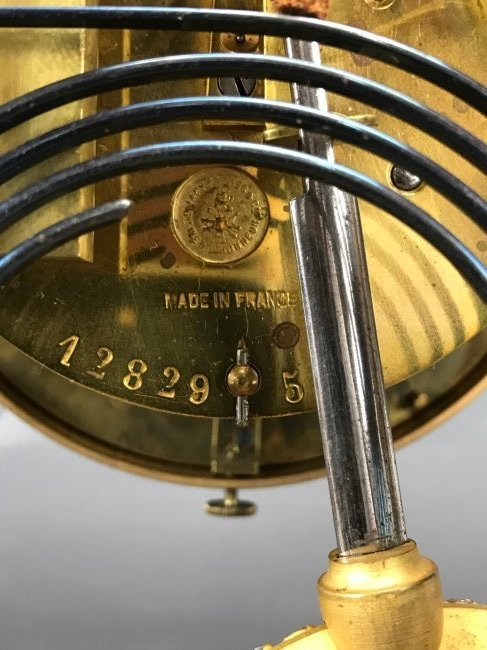 A 19TH C. TIFFANY & CO CHAMPLEVE ENAMEL CLOCK - 5
