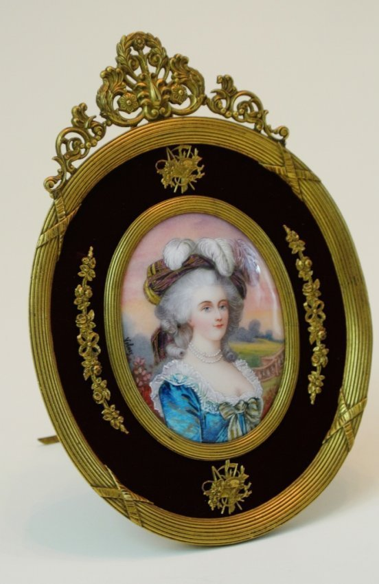 19TH CENTURY LIMOGES ENAMEL AND DORE BRONZE FRAME