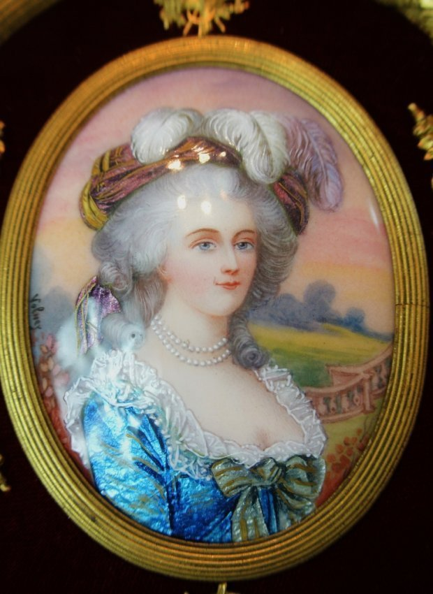 19TH CENTURY LIMOGES ENAMEL AND DORE BRONZE FRAME - 2