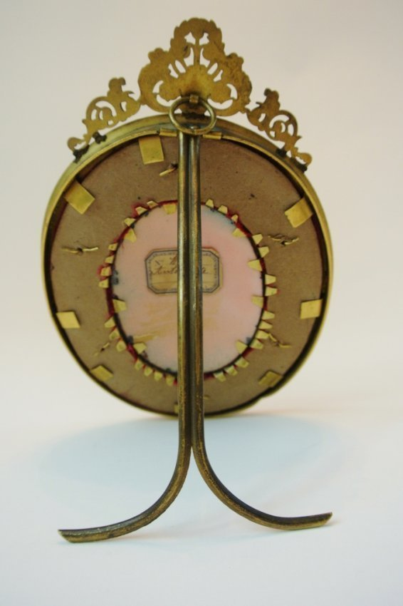 19TH CENTURY LIMOGES ENAMEL AND DORE BRONZE FRAME - 3