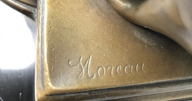A PATINATED BRONZE SCULPTURE SIGNED MOREAU - 2