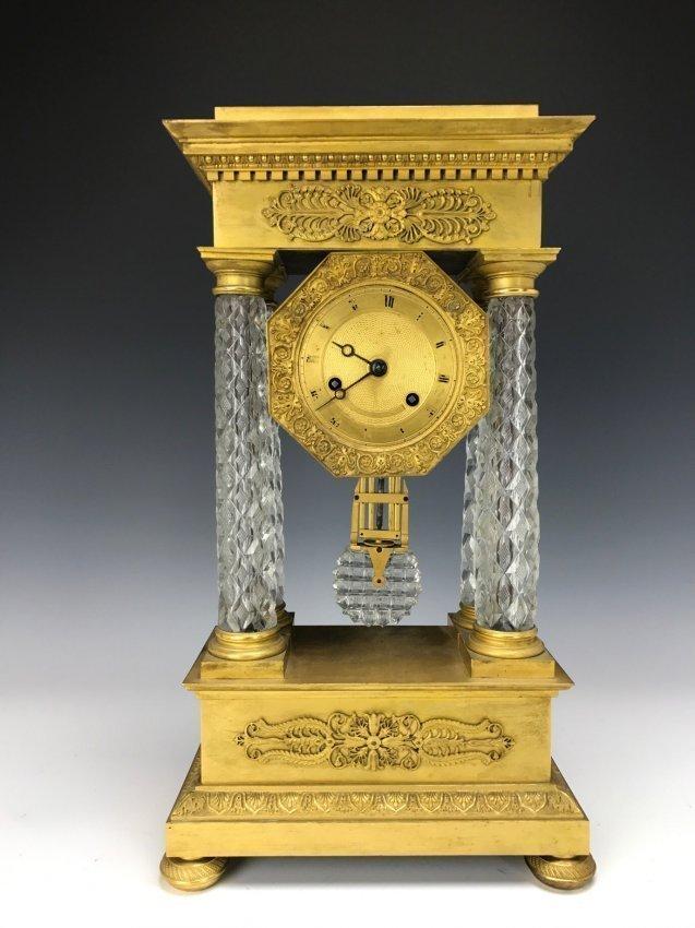 19TH CENTURY ORMOLU MOUNTED BACCARAT CLOCK