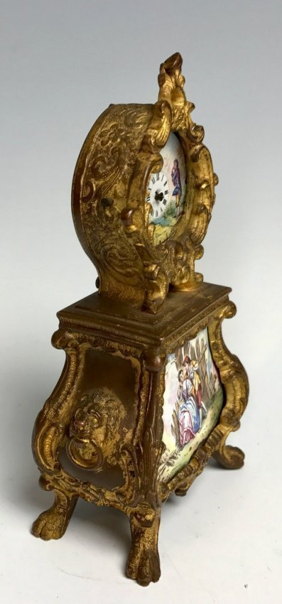 19TH CENTURY AUSTRIAN ENAMEL CLOCK - 2