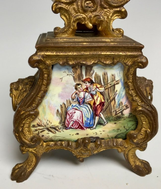 19TH CENTURY AUSTRIAN ENAMEL CLOCK - 3