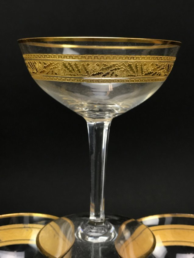 SET OF 6 SIGNED BACCARAT CHAMPAGNE COUPS - 2