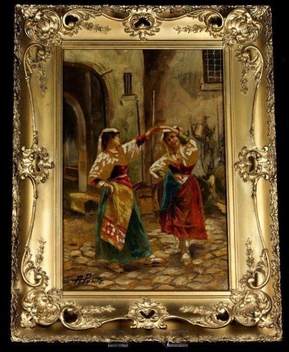 19TH CENTURY ITALIAN OIL PAINTING ON CANVAS