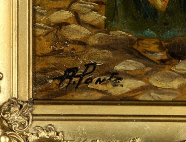 19TH CENTURY ITALIAN OIL PAINTING ON CANVAS - 2