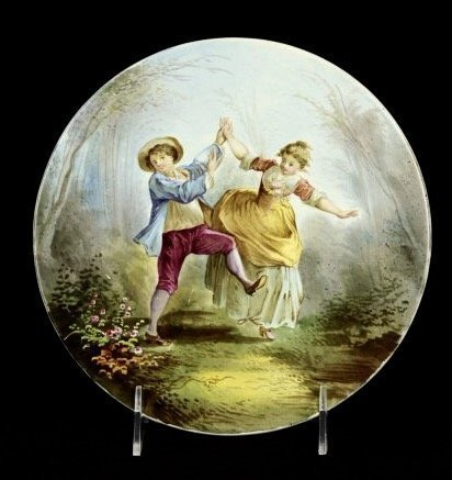 SEVRES STYLE FRENCH PORCELAIN PLAQUE CIRCA 1900