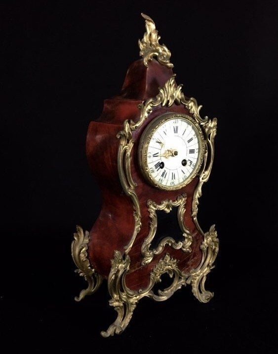 LOUIS XV STYLE ORMOLU MOUNTED CLOCK