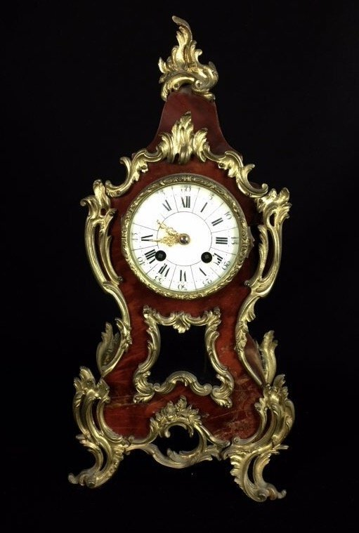 LOUIS XV STYLE ORMOLU MOUNTED CLOCK - 2