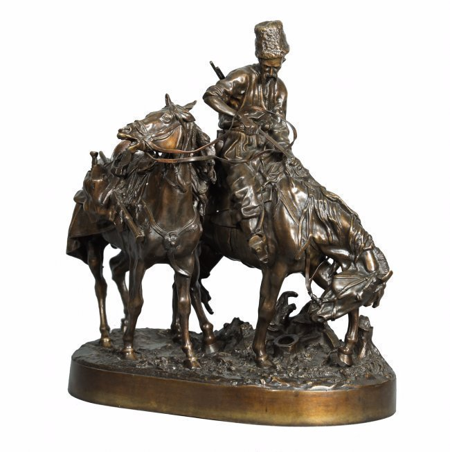 RUSSIAN BRONZE SCULPTURE BY EUGENE LANCERAY