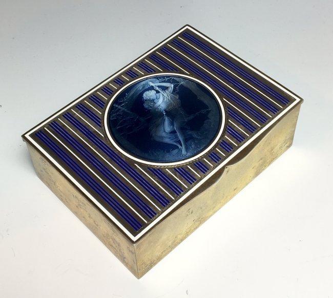 19TH CENTURY AUSTRIAN ENAMELLED STERLING SILVER BOX