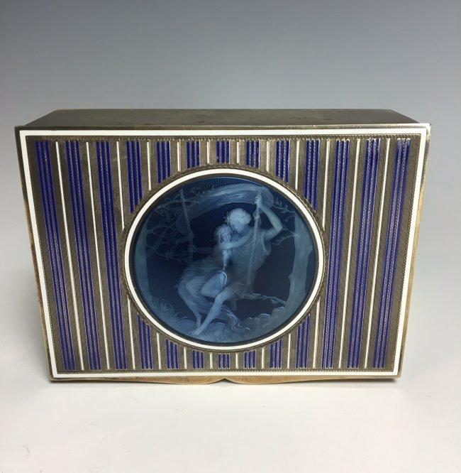 19TH CENTURY AUSTRIAN ENAMELLED STERLING SILVER BOX - 2