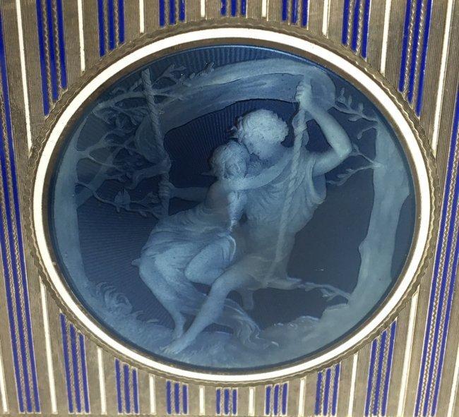 19TH CENTURY AUSTRIAN ENAMELLED STERLING SILVER BOX - 3