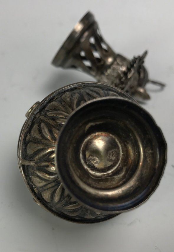 19TH C. SILVER LAMP - 3