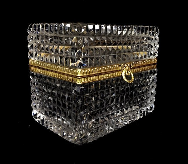 DORE BRONZE MOUNTED BACCARAT GLASS BOX