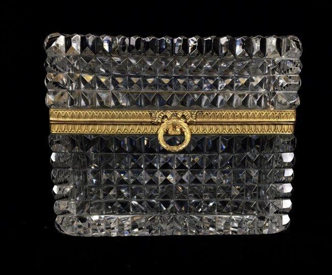DORE BRONZE MOUNTED BACCARAT GLASS BOX - 3