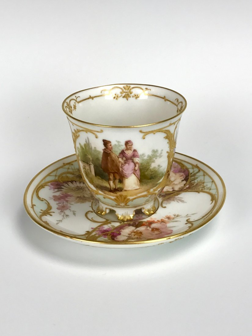 19TH C. BERLIN KPM CUP AND SAUCER