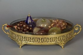 19TH CENTURY DORE BRONZE AND CRYSTAL CENTERPIECE