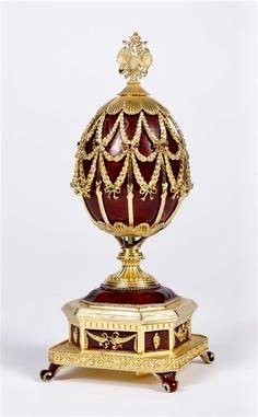 HOUSE OF FABERGE STERLING SILVER MUSICAL EGG