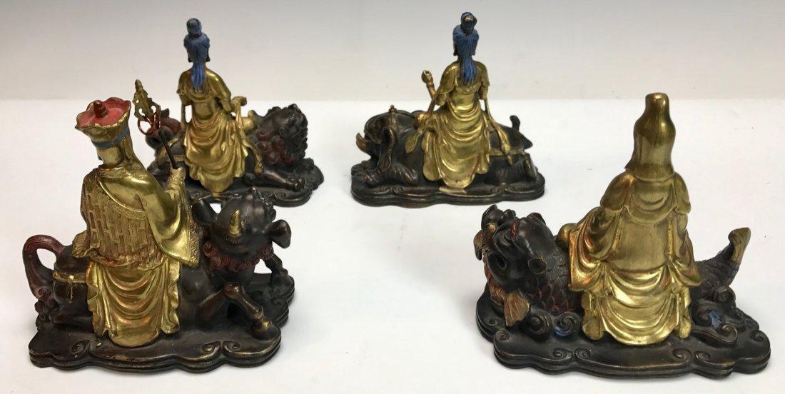 SET OF 4 CHINESE BRONZE SCHOLARS CIRCA 1850 - 7
