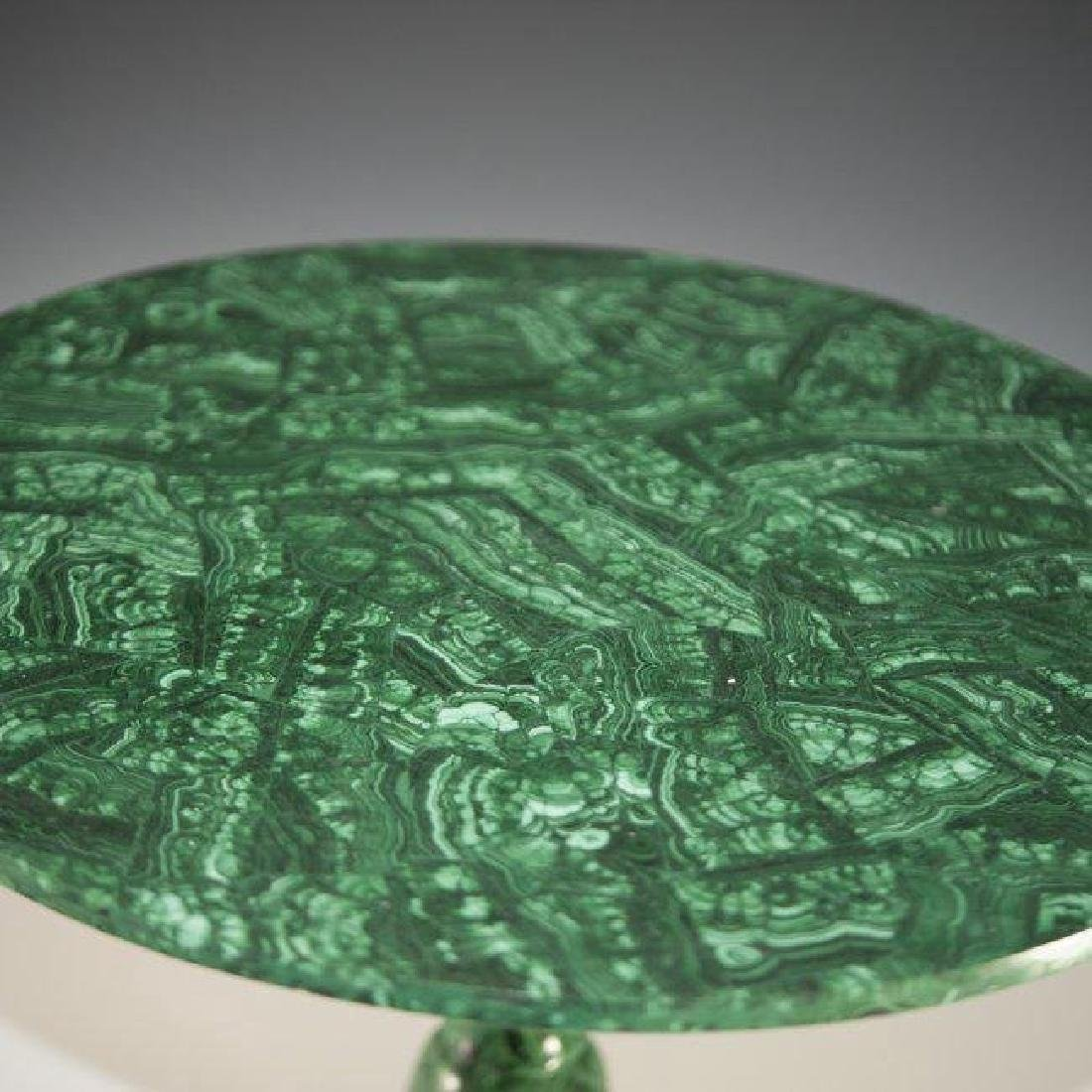 A MALACHITE SIDE TABLE - 3