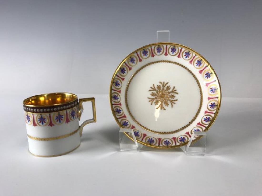 SET OF 6 ROYAL VIENNA CUP AND SAUCERS CIRCA 1880 - 3