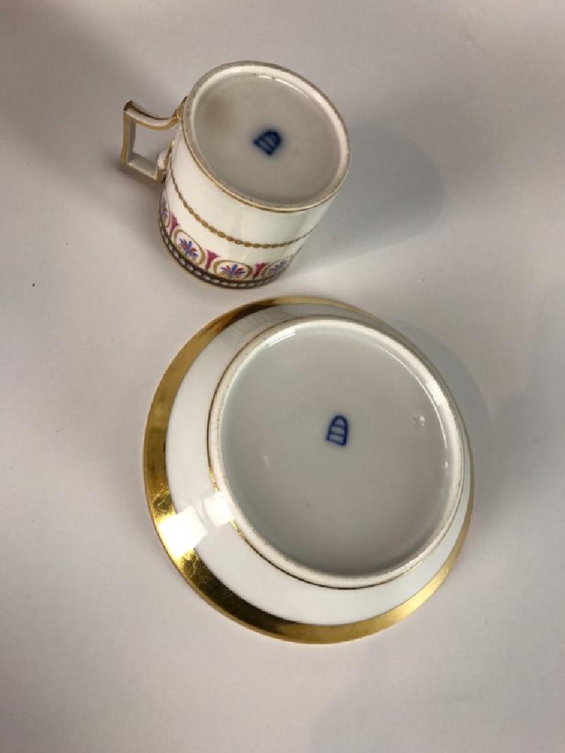SET OF 6 ROYAL VIENNA CUP AND SAUCERS CIRCA 1880 - 4