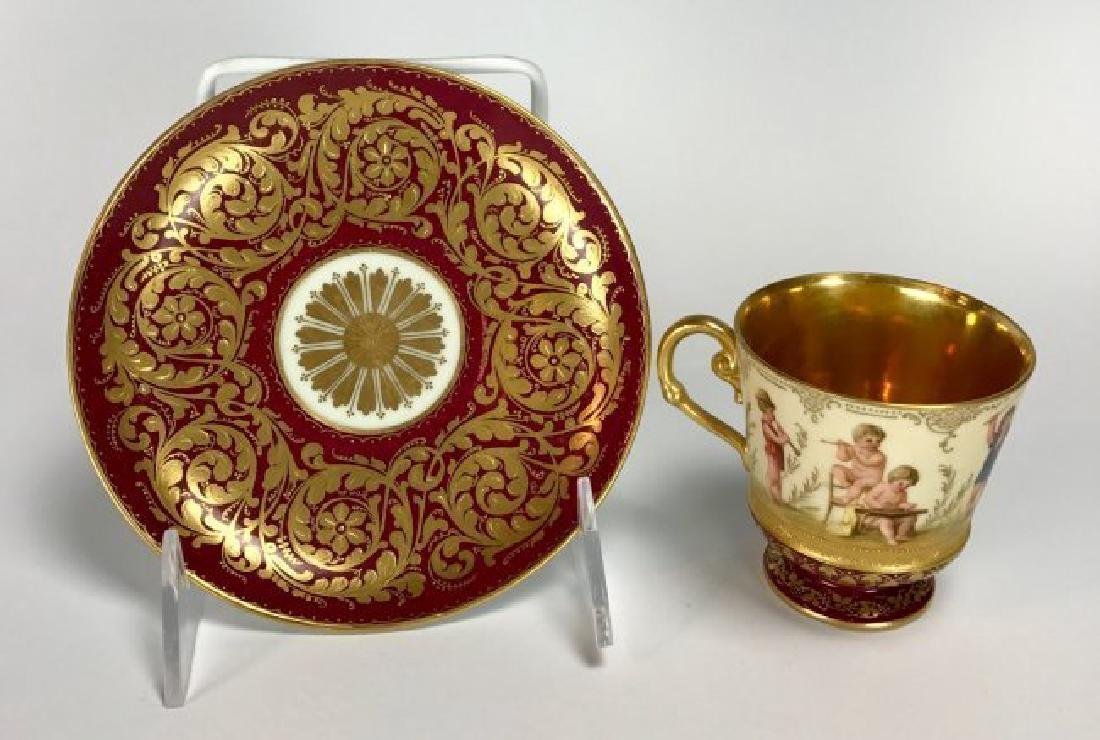 19TH CENTURY ROYAL VIENNA CUP AND SAUCER