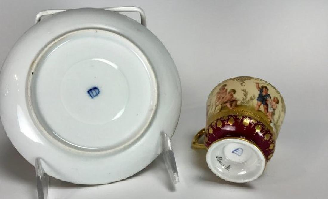 19TH CENTURY ROYAL VIENNA CUP AND SAUCER - 2
