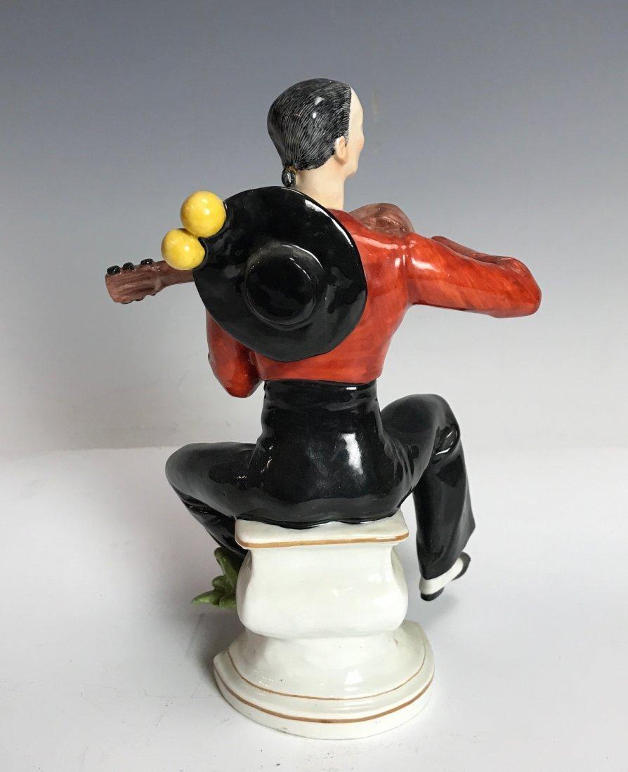 PAUL SCHEURICH MEISSEN SPANISH GUITAR PLAYER - 2
