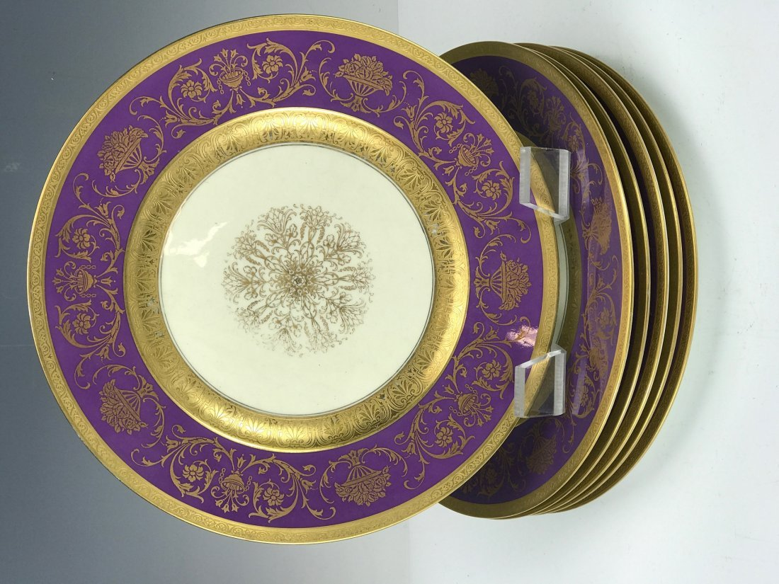 SET OF 6 BAVARIA PORCELAIN DINNER PLATES