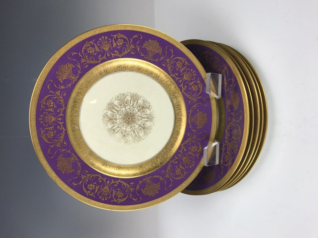 SET OF 6 BAVARIA PORCELAIN DINNER PLATES - 3
