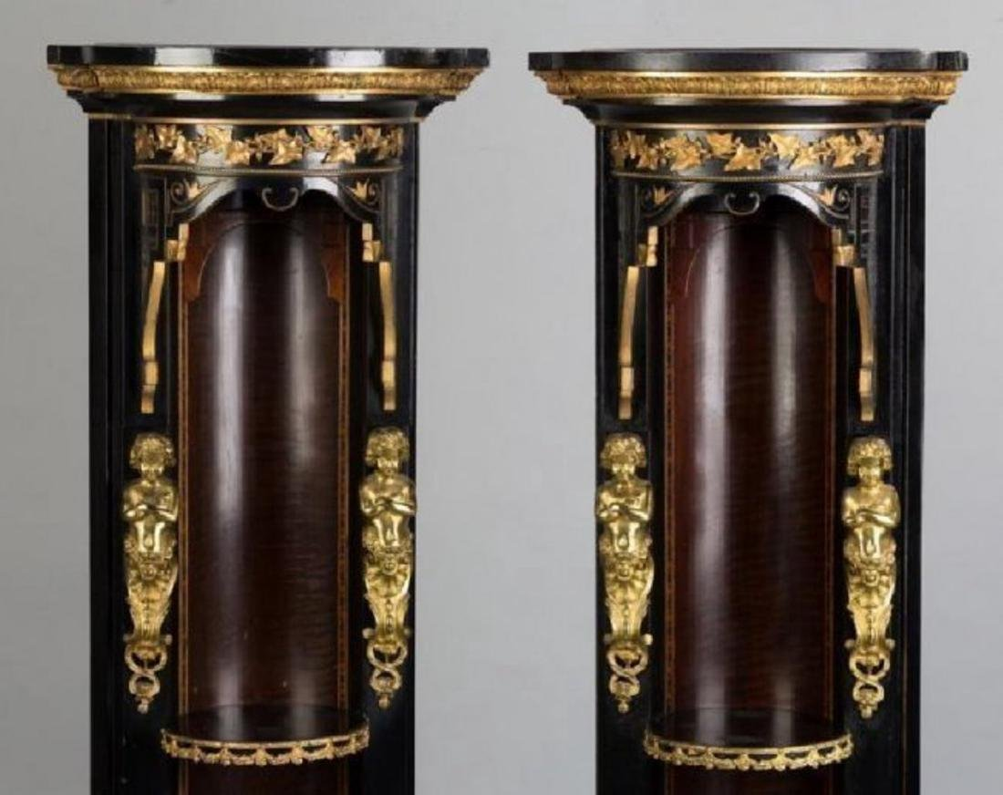 PAIR OF 19TH C. ORMOLU MOUNTED CORNER STANDS - 2