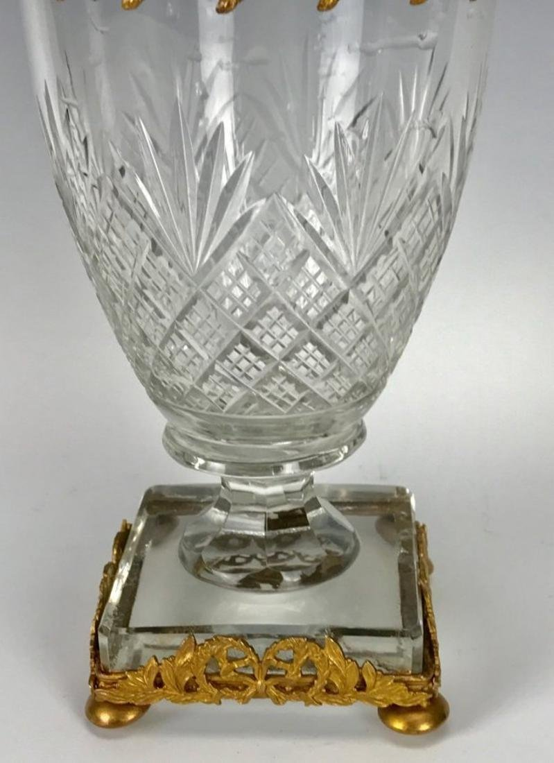 ORMOLU MOUNTED BACCARAT GLASS VASE - 3