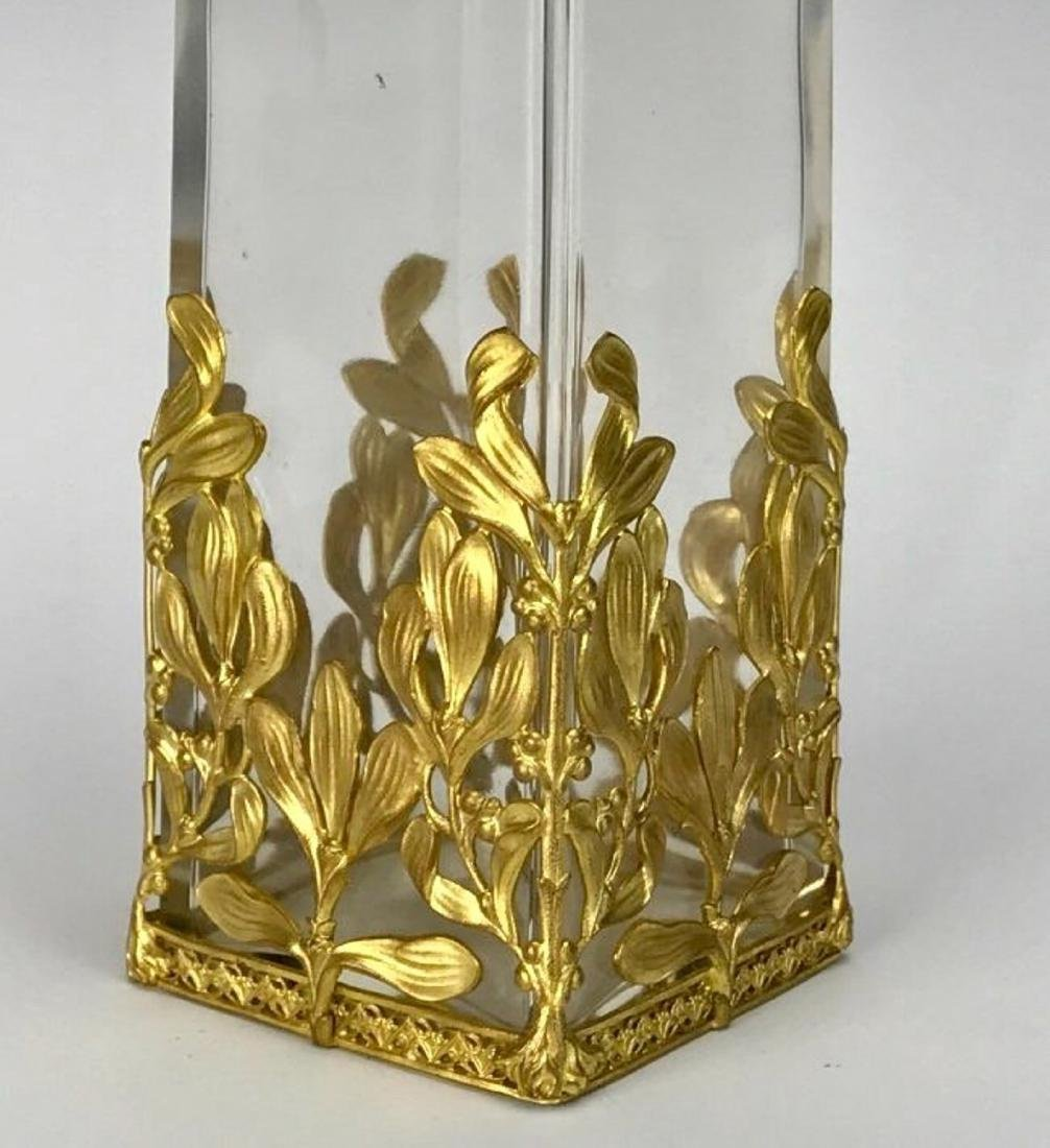 A VERY FINE ORMOLU MOUNTED BACCARAT GLASS VASE - 2