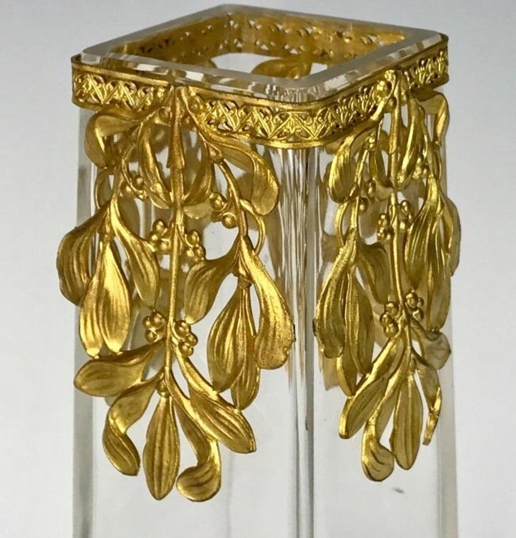 A VERY FINE ORMOLU MOUNTED BACCARAT GLASS VASE - 3