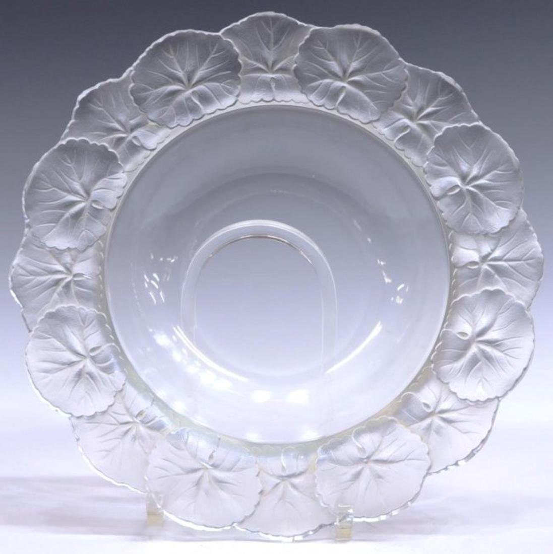 LALIQUE FRANCE HONFLEUR ART CRYSTAL TABLEWARE - 2